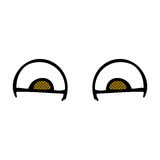 comic cartoon eyes Royalty Free Stock Images
