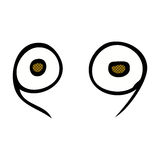 comic cartoon eyes Stock Photo
