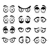 Comic Cartoon Eyes Set. Vector Royalty Free Stock Photography