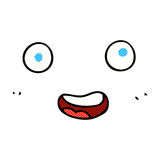 Comic cartoon face Stock Photos