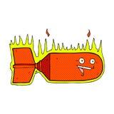comic cartoon falling bomb Royalty Free Stock Photography