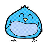 Comic cartoon fat bird Stock Photography