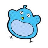 Comic cartoon fat bird Royalty Free Stock Images