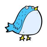 Comic cartoon fat bird Stock Images