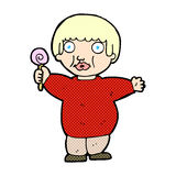 Comic cartoon fat child Royalty Free Stock Images