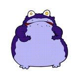 comic cartoon fat frog Royalty Free Stock Photos