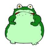 comic cartoon fat frog Stock Photos