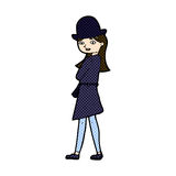 comic cartoon female spy Royalty Free Stock Photos