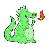 Comic cartoon fire breathing dragon. Retro comic book style cartoon fire breathing dragon Royalty Free Stock Photo