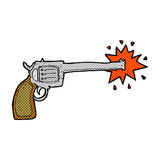 comic cartoon firing gun Stock Photography