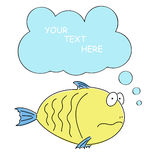 Comic cartoon fish Royalty Free Stock Photo