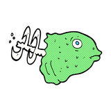 Comic cartoon fish head. Retro comic book style cartoon fish head Royalty Free Stock Photography