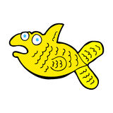 Comic cartoon fish. Retro comic book style cartoon fish Stock Images