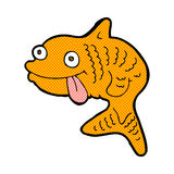 Comic cartoon fish. Retro comic book style cartoon fish Royalty Free Stock Photo