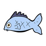 Comic cartoon fish. Retro comic book style cartoon fish Stock Photos