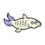 Comic cartoon fish. Retro comic book style cartoon fish Royalty Free Stock Images