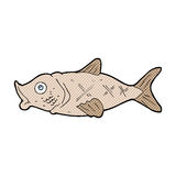 Comic cartoon fish. Retro comic book style cartoon fish Royalty Free Stock Photography