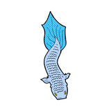 Comic cartoon fish. Retro comic book style cartoon fish Royalty Free Stock Image