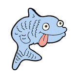 Comic cartoon fish. Retro comic book style cartoon fish Stock Image