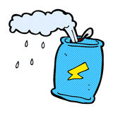 Comic cartoon fizzing soda can Stock Images