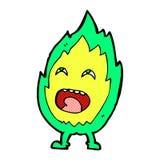comic cartoon flame character Royalty Free Stock Photo