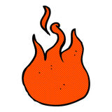 comic cartoon flame symbol Stock Photos