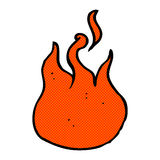 comic cartoon flame symbol Royalty Free Stock Photography
