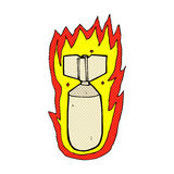 Comic cartoon flaming bomb Stock Photo