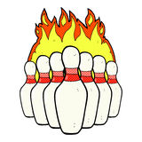 Comic cartoon flaming skittles Royalty Free Stock Images