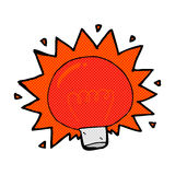 comic cartoon flashing red light bulb Royalty Free Stock Image