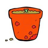 comic cartoon flower pot Royalty Free Stock Image