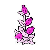comic cartoon flowers Royalty Free Stock Images