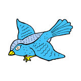 Comic cartoon flying bird. Retro comic book style cartoon flying bird Royalty Free Stock Photos