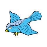 Comic cartoon flying bird Royalty Free Stock Photos