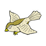 Comic cartoon flying bird. Retro comic book style cartoon flying bird Royalty Free Stock Photo