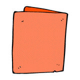 comic cartoon folded card Royalty Free Stock Photos