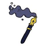 comic cartoon fountain pen Stock Photos