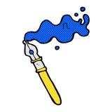 comic cartoon fountain pen Stock Photo