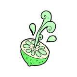 Comic cartoon fresh lime Royalty Free Stock Photo