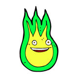 Comic cartoon friendly fireball Royalty Free Stock Photos