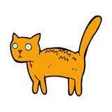 Comic cartoon frightened cat Stock Photos