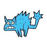 Comic cartoon frightened cat Stock Photo