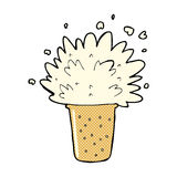 comic cartoon frothy beer Stock Images