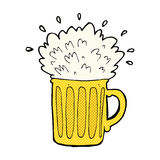 comic cartoon frothy beer Royalty Free Stock Photography