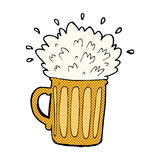 comic cartoon frothy beer Royalty Free Stock Photos