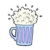 comic cartoon frothy beer Stock Image