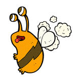 Comic cartoon funny bee Stock Photo