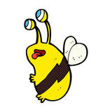 Comic cartoon funny bee Stock Photo