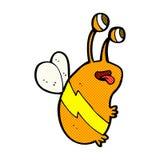 Comic cartoon funny bee Stock Photography