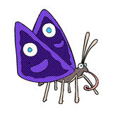 Comic cartoon funny butterfly Stock Photo
